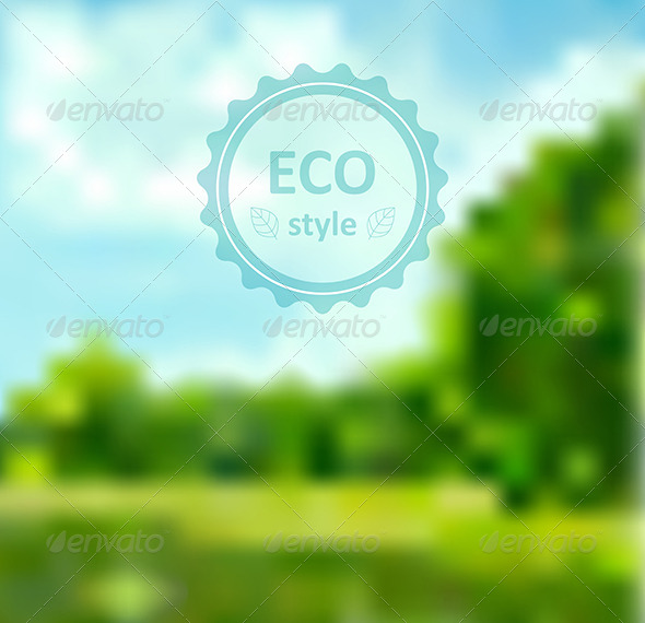 GraphicRiver Blurred Green Abstract Background with Frame 7229692