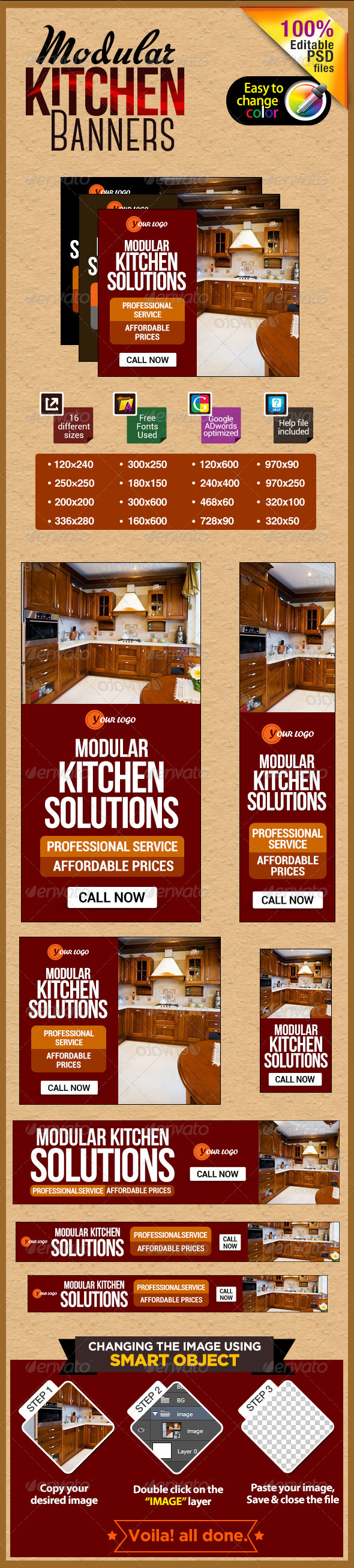 GraphicRiver Modern Kitchen Banners 7229791