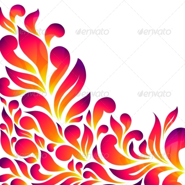 GraphicRiver Abstract Floral Background with Drops and Leaves 7229792