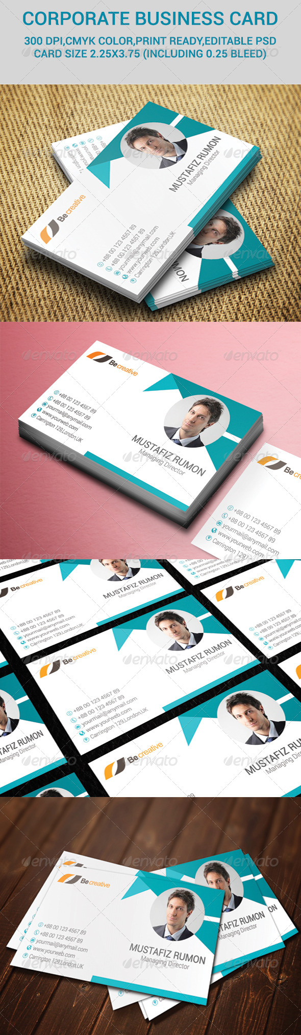 GraphicRiver Corporate Business Card 7229808