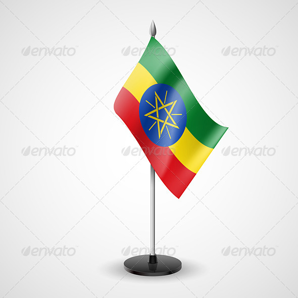 GraphicRiver Table Flag of Ethiopia 7229830