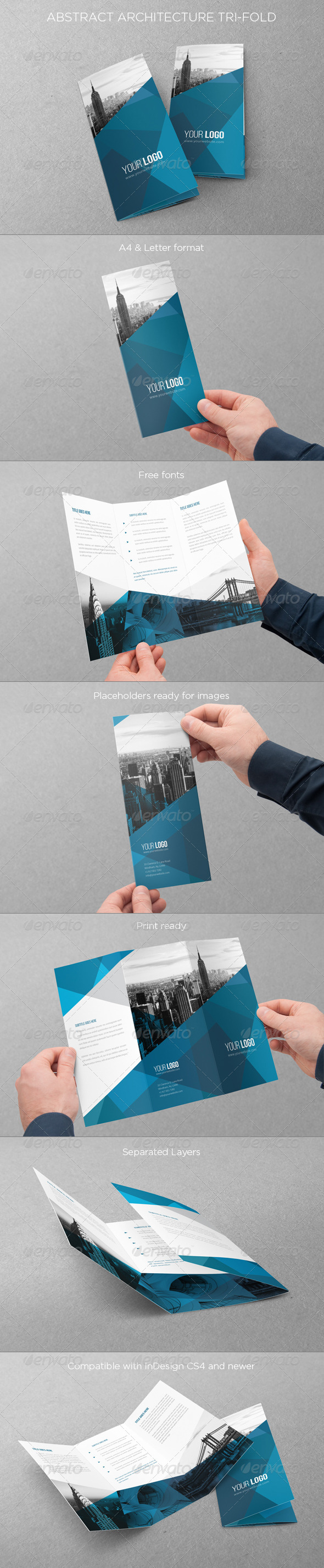 GraphicRiver Abstract Architecture Trifold 7230003