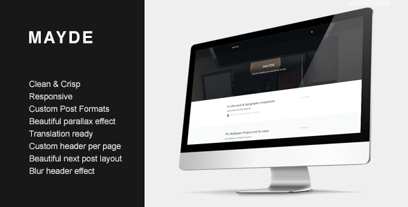ThemeForest Mayde Refreshing Blogging Theme 7206269