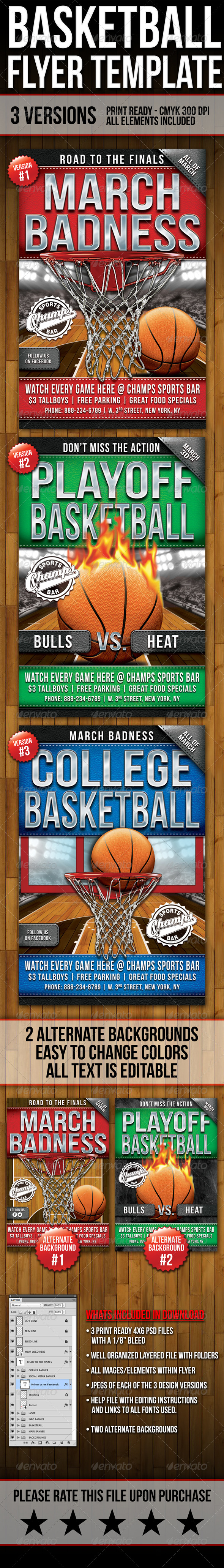 GraphicRiver Basketball Flyers 7189658