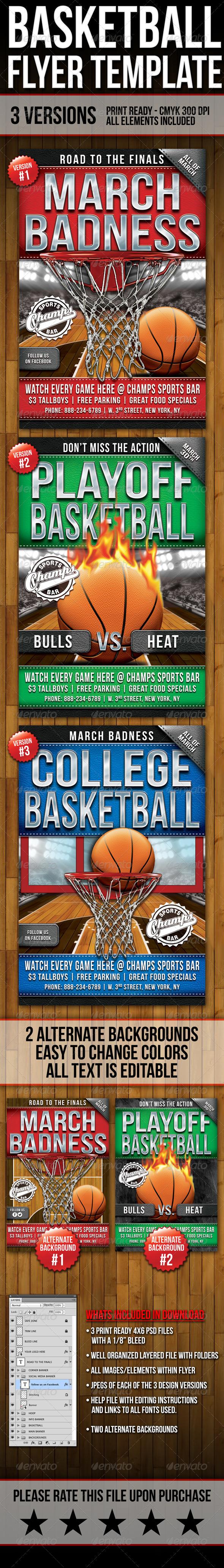 GraphicRiver Basketball Flyers 7189658