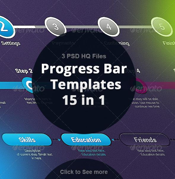 GraphicRiver Progress Bar Template 7230718