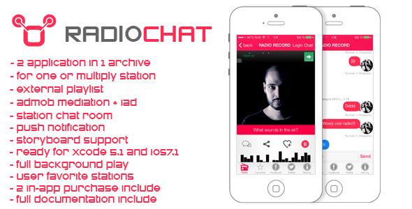 CodeCanyon Radio&Chat flat radio app for iPhone 7231071