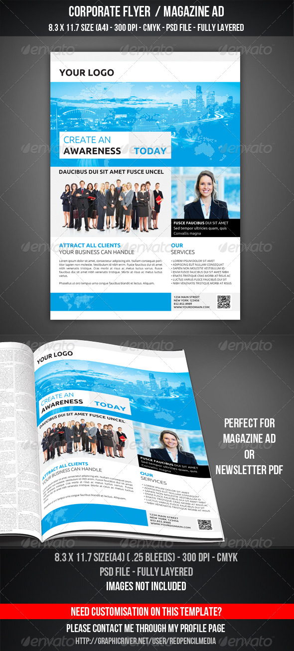 GraphicRiver Corporate Flyer Magazine AD 7231266