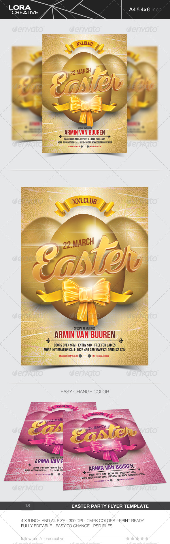 GraphicRiver Easter Party Flyer Poster 18 7231268
