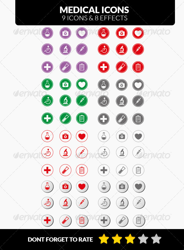 GraphicRiver Stock Medical Icons 7143331