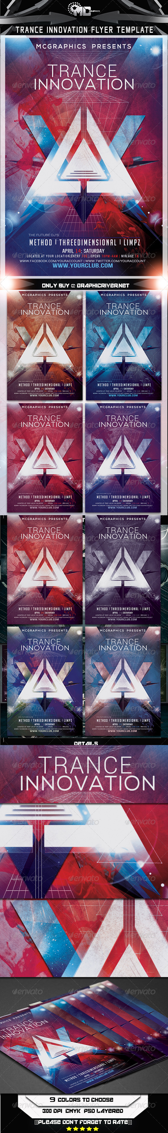 GraphicRiver Trance Innovation Flyer Template 7187660