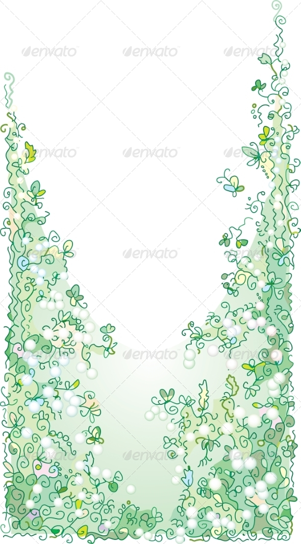 GraphicRiver Refined Floral Vignette In Color 7231497