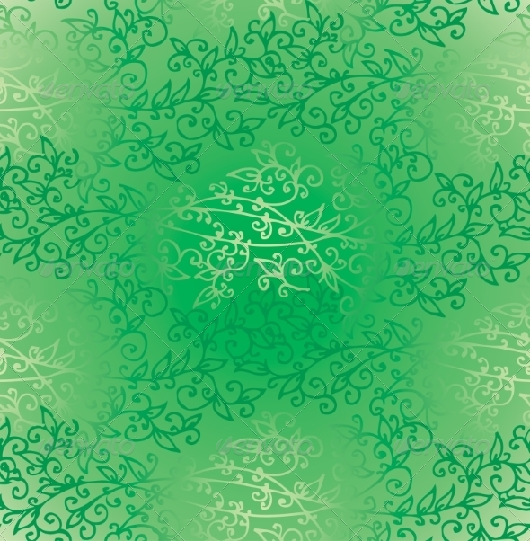 GraphicRiver Floral Green Verdure Springtime seamless pattern 7231662