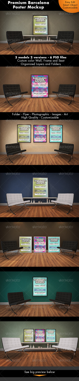 GraphicRiver Barcelona Poster Mockup 7186866