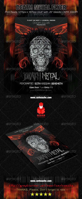 GraphicRiver Death Metal Flyer 7232239