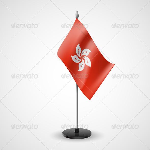 GraphicRiver Table Flag of Hong Kong 7232383