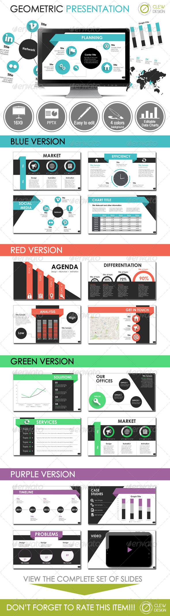 GraphicRiver Geometric Presentation Template 7190760