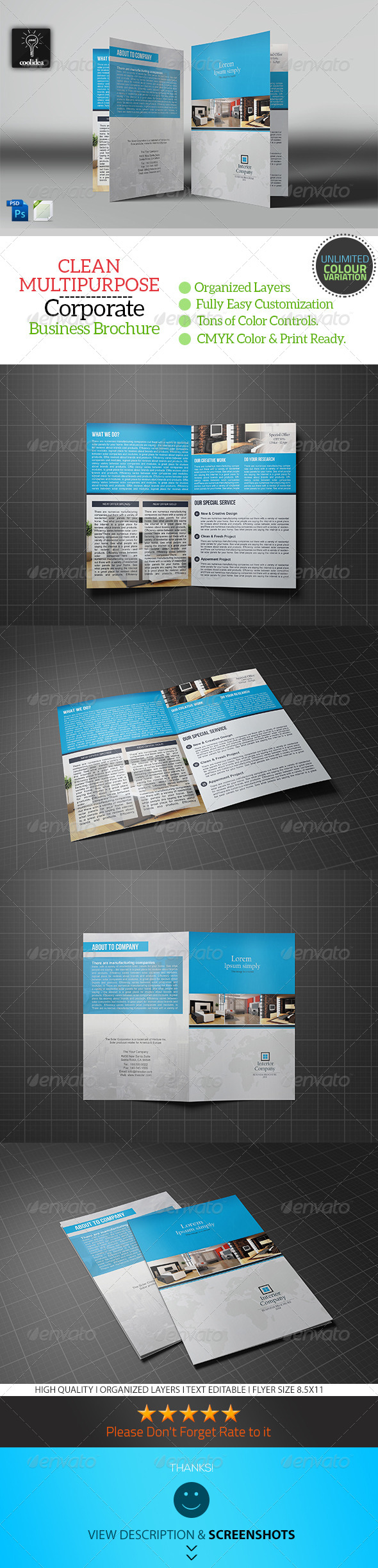 GraphicRiver Interior Bifold Brochure Template 7210577