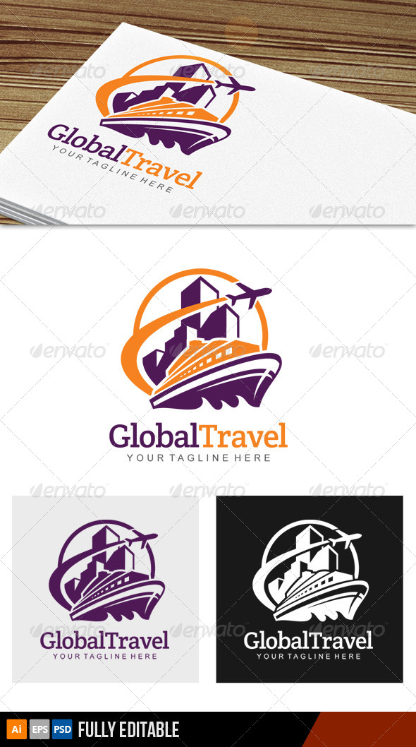 GraphicRiver Global Travel Logo 7203978