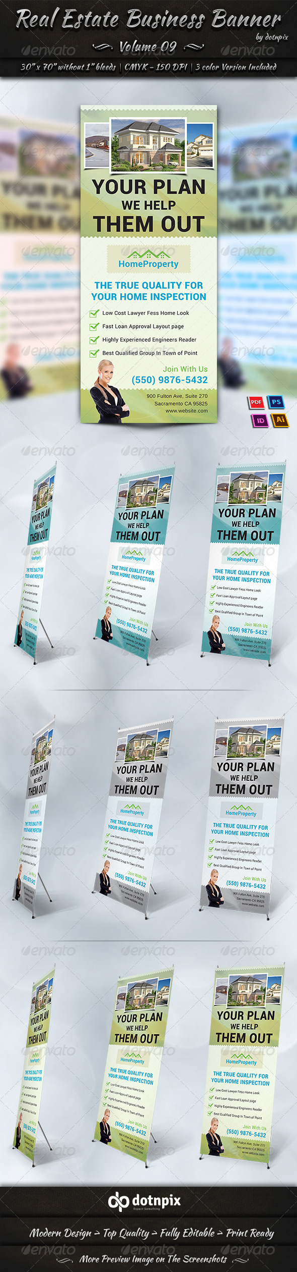 GraphicRiver Real Estate Business Banner Volume 9 7232897