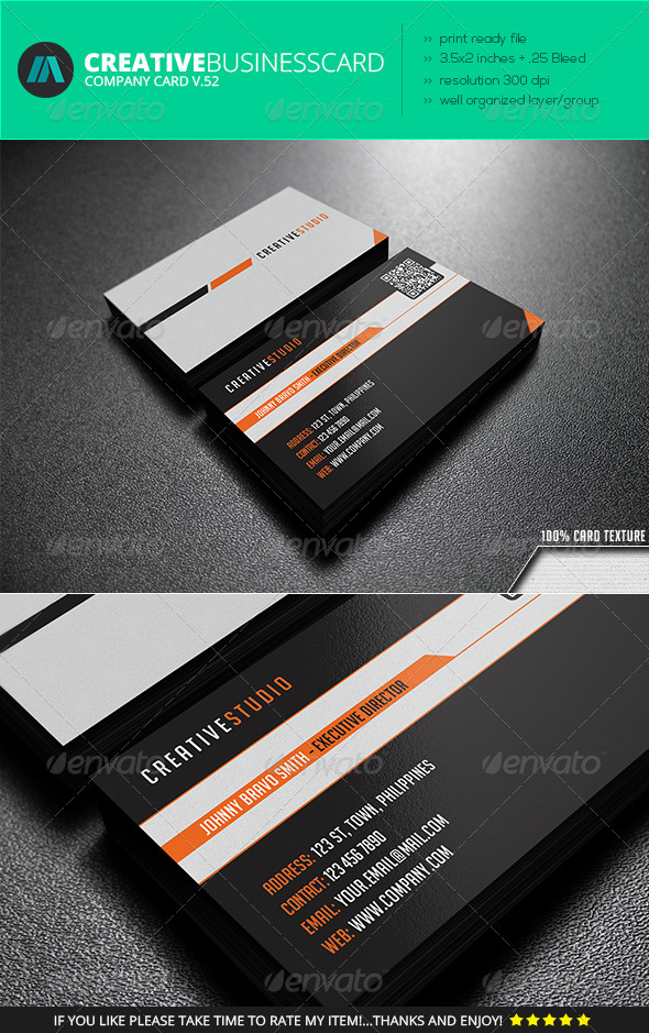 GraphicRiver IntenseArtisan Business Card Vol.52 7232918