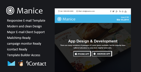ThemeForest Manice Responsive Email & Themebuilder Access 7198142