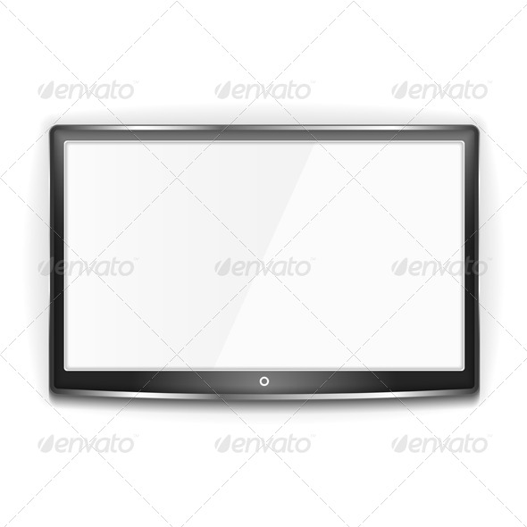 GraphicRiver Black LCD TV Screen 7233158