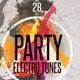 Party Electro Tunes Flyer Template2 - GraphicRiver Item for Sale