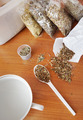 Phytotherapy. Dry medicinal herbs on a table - PhotoDune Item for Sale