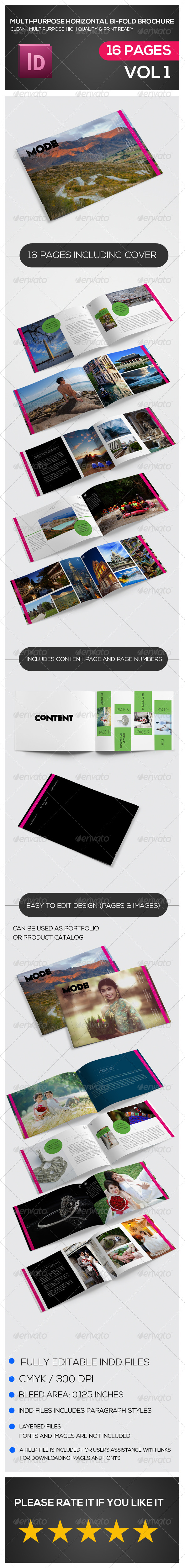 GraphicRiver Multipurpose Horizontal Bi-fold Brochure 7233415