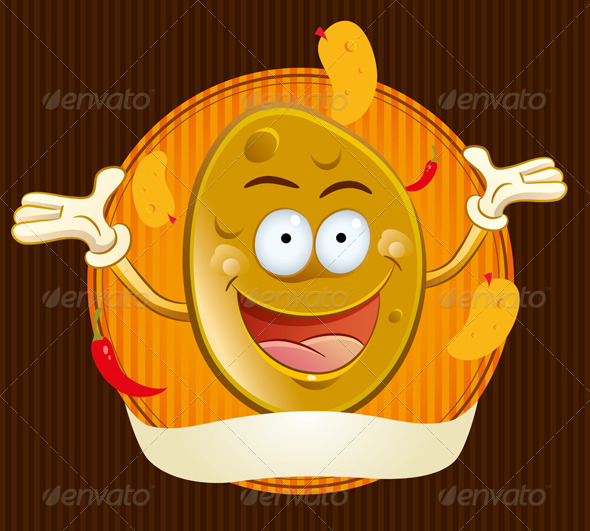 Graphic River Potato Chips Mascot Vectors -  Characters  Other 757626