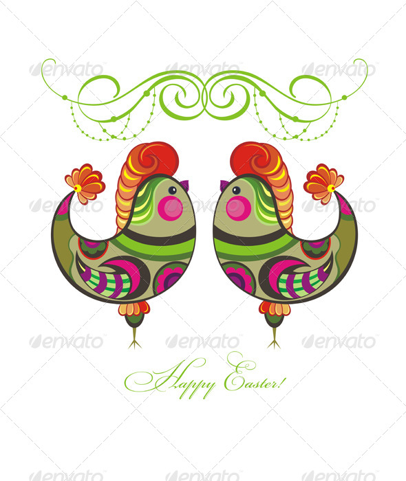 GraphicRiver Easter Holiday Vector Background 7233738