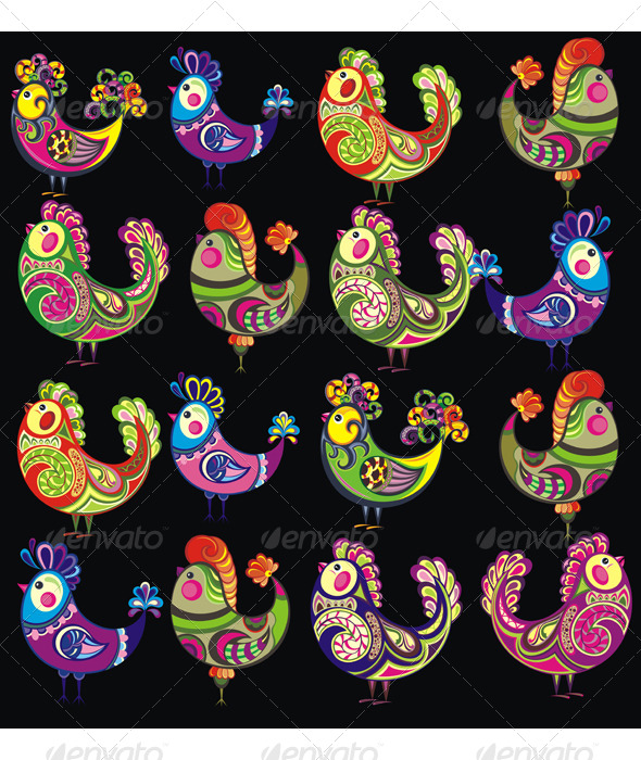 GraphicRiver Easter Chickens 7233750