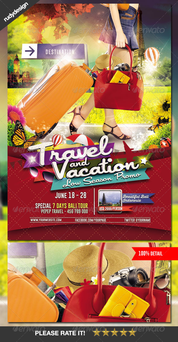 GraphicRiver Travel Tour and Vacation Flyer 7233755