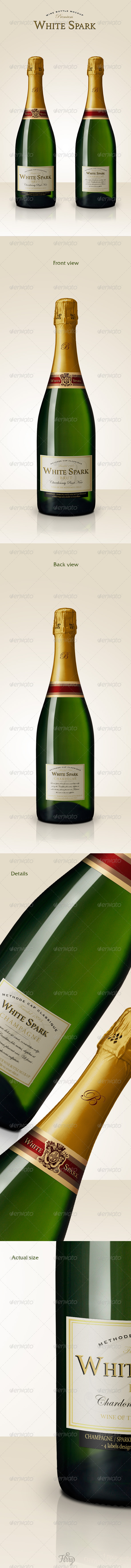 GraphicRiver Premium Champagne Bottle Mockup 7233862