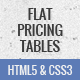 Free Download Flat, responsive pricing tables
