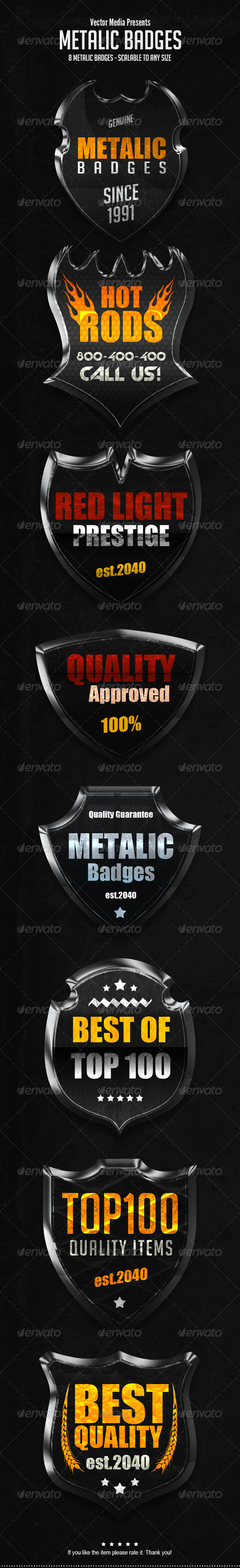 GraphicRiver Metalic Badges 7234347