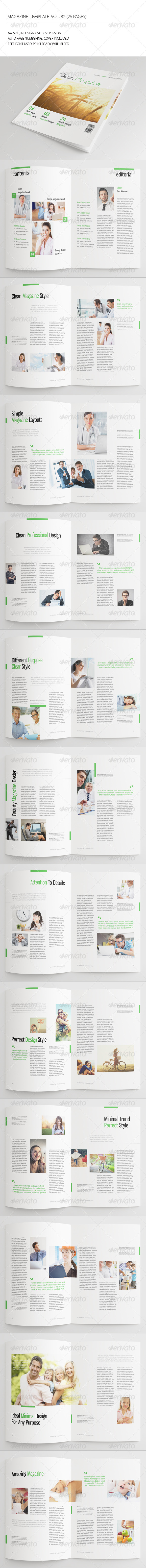 GraphicRiver 25 Pages Minimal Magazine Vol32 7234539