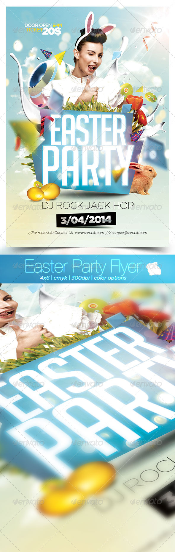 GraphicRiver Easter Party Flyer 2014 7215165