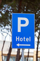 Hotel Parking Traffic Sign - PhotoDune Item for Sale