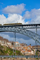 Metro Train on the Bridge of Dom Luiz in Porto - PhotoDune Item for Sale