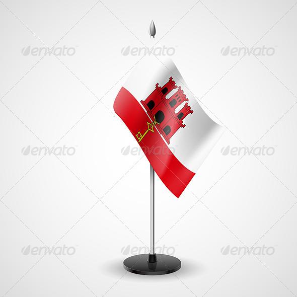 GraphicRiver Table flag of Gibraltar 7234766