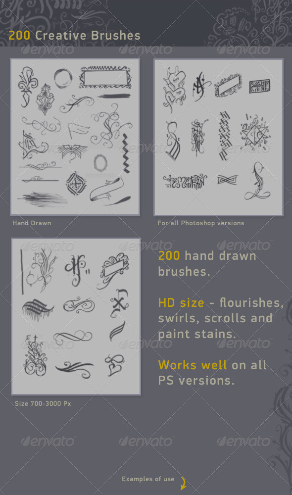 GraphicRiver 200 Creative Brushes 7218121