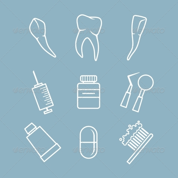 GraphicRiver Dental icons set 7235227