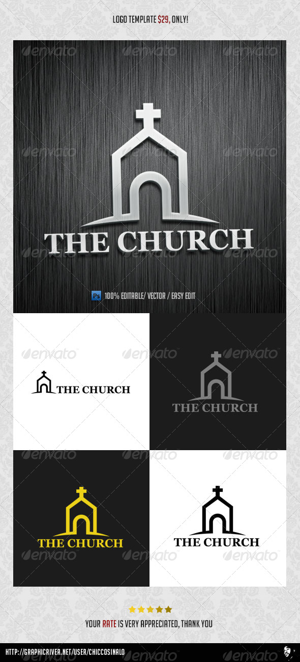 GraphicRiver The Church Logo Template 7235266