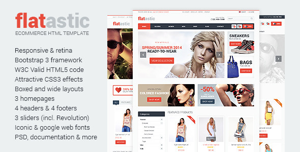 ThemeForest Flatastic Ecommerce HTML Template 7221813
