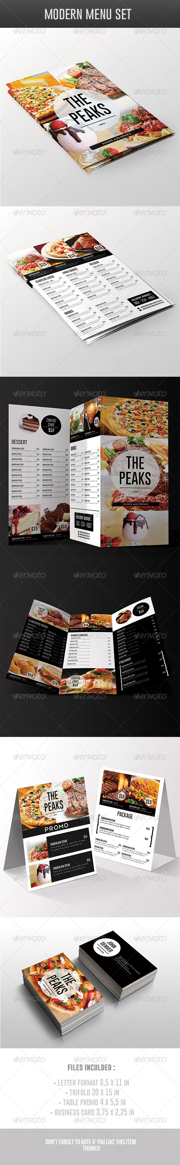 GraphicRiver Modern Menu Pack 7235909