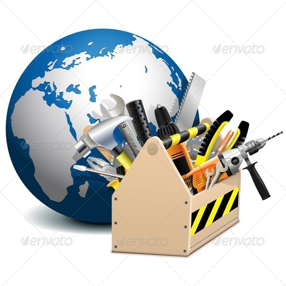 GraphicRiver Vector Toolbox with Globe 7235993