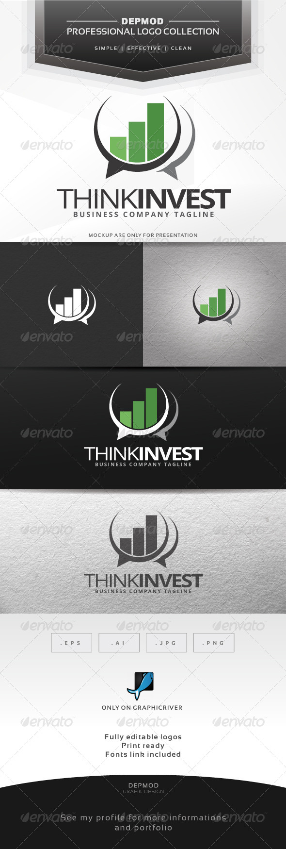 GraphicRiver Think Invest Logo 7235994