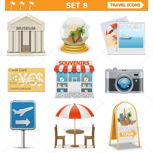 GraphicRiver Vector Travel Icons Set 8 7236101